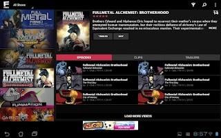 Screenshot of FUNimation Free