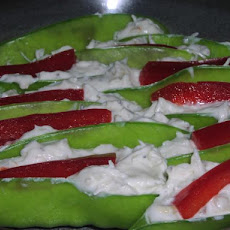 Crab Stuffed Snow Peas