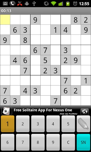 sudoku for android screenshot