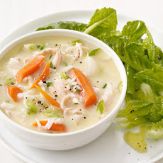 Lemon Chicken Soup and Salad