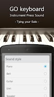 Screenshot of GO Keyboard Instrument Sound