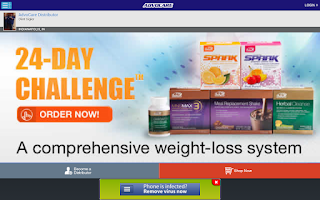 Screenshot of AdvoCare Online Ordering