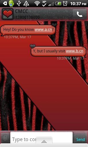 GO SMS THEME RedZebra2