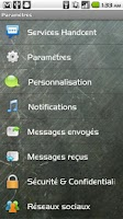 Screenshot of Handcent SMS French Language P