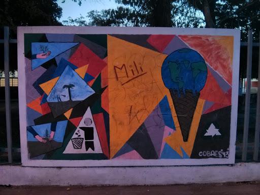 Mural Artístico Calentamiento Global Y medio Ambiente