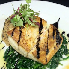 Seared Mahi Mahi Over Spinach