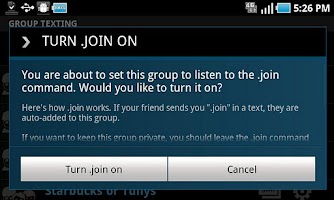 Screenshot of T-Mobile Group & Web Texting