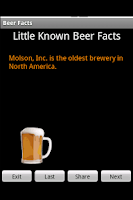 Screenshot of Beer Facts 2010