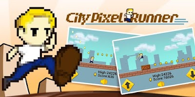 Screenshot of City Pixel Runner