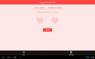 Screenshot of Fingerprint Love Test