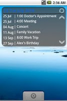 Screenshot of Simple Calendar FREE