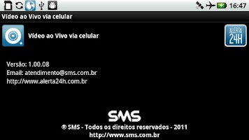 Screenshot of Vídeo ao Vivo via celular