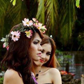 Two beautiful face.. by Dwi Ratna Miranti - People Portraits of Women