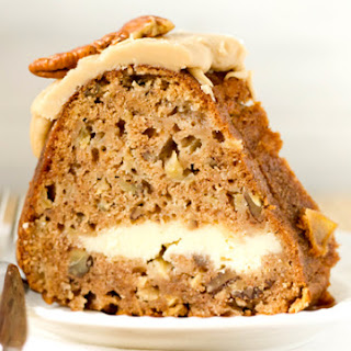 Apple-Pecan Spice Cake with Cream Cheese Filling & Praline Frosting