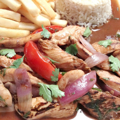 Pollo saltado… Peruvian-style stir fried chicken