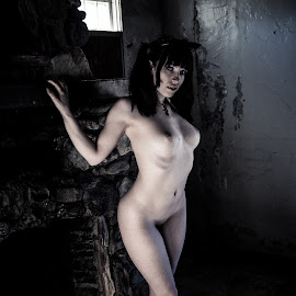 Coming? by Frankie Cochran - Nudes & Boudoir Artistic Nude ( sexy, nude, goth, gritty, nudes )