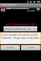 Screenshot of Auto Call Response
