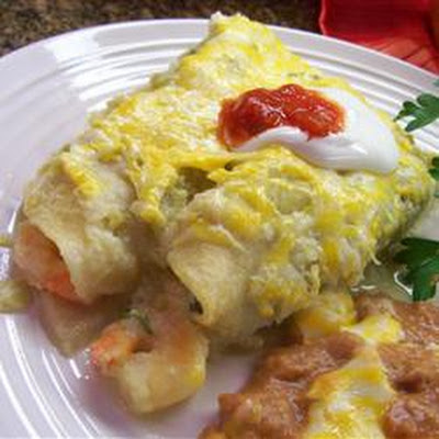 Shrimp Enchiladas Suizas
