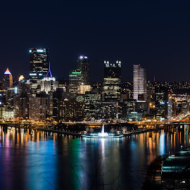 Pittsburgh by Stacy Abbott - City,  Street & Park  Skylines ( skyline, pittsburgh, cityscape, river )