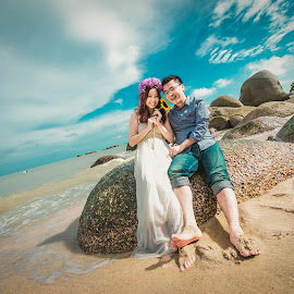 Summer Love by Mike Tan - Wedding Bride & Groom ( mike tan, love, sweet, pre-wedding, wedding, penang, malaysia )