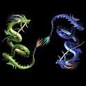 3D double dragon icon
