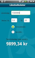 Screenshot of Luster Sparebank