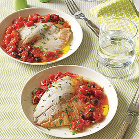 Tilapia with Tomatoes and Olives
