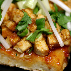 Thai Tofu & Peanut Pizza