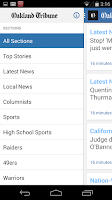 Screenshot of Oakland Tribune