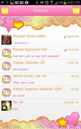 GO SMS - Orange Sherbet Sky