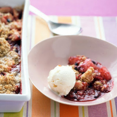 Pear-and-Berry Crisp