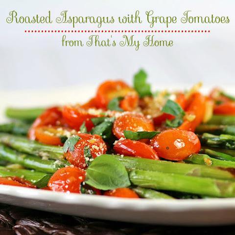 Roasted Asparagus with Garlic Grape Tomatoes