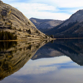 Reflections by Darlene Dunnum - Landscapes Mountains & Hills ( vistas, clouds, mountains, reflections, lake )
