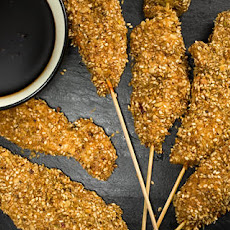 Chicken Skewers with Dukkah Crust Recipe