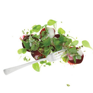 Warm Beet Salad with Parmesan Dressing