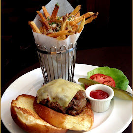 Perfect Burger & Fries by Sue Baxter Fitz - Food & Drink Plated Food (  )