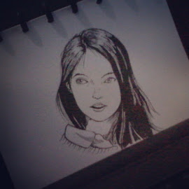 Just my old picture. I draw with photo reference by Andy Hardianto - Drawing All Drawing ( drawing, sketch, beauty, girl, face, art )
