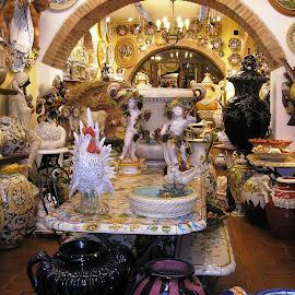 Gift shop in San Gimignano by Ljiljana Pejcic - City,  Street & Park  Markets & Shops