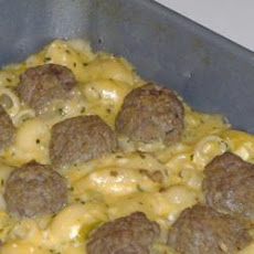 Southwestern Macaroni and Cheese with Adobo Meatballs