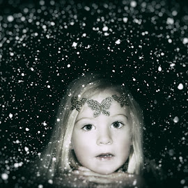 Winter Fairytale by Kelly Murdoch - Digital Art People ( pose, butterfly, england, uk, model, winter, girl, season, headband, female, snow, ztam )