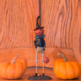 Scarecrow by Michael Wolfe - Abstract Patterns ( pumkins, figure, scarcrow, wod patterns, figurine,  )