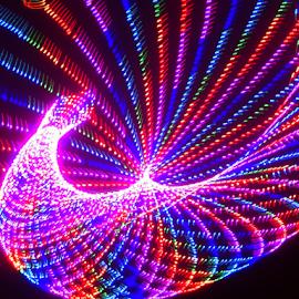 Peacock  by Jim Barton - Abstract Patterns ( bird, laser light, colorful, light design, laser design, laser, laser light show, light, peacock, science )