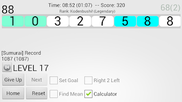 Screenshot of Mean Sumurai - Mental Math
