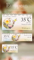 Screenshot of EUROPEAN THEME GO WEATHER EX