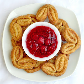 Cinnamon Palmiers with Raspberry Compote
