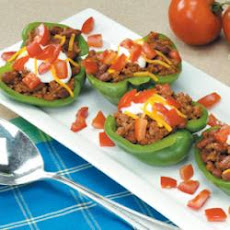 Taco-Stuffed Pepper Cups