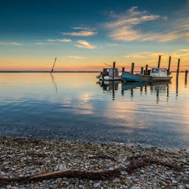 Boat Dock by Glenn Taylor - Landscapes Sunsets & Sunrises