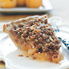 Apricot Pie with Candied Ginger and Crunchy Topping