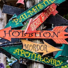 Which way is it? by Judy Rosanno - Artistic Objects Signs ( directions, signs, arrows, signpost, artistic signs,  )