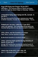 Screenshot of UFO Encyclopedia